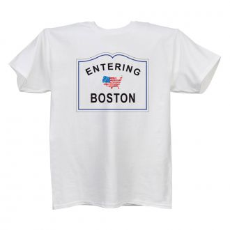 Entering (add city or town) - White T Shirt - SMALL