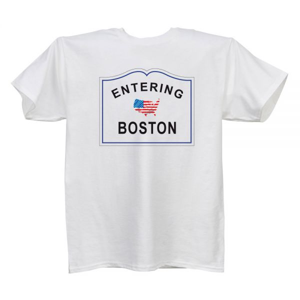 Entering..(City/Town) White T Shirt