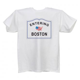 Entering (add city or town) - Ladies' White T - LARGE