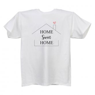 Home Sweet Home (house) - White T Shirt - LARGE
