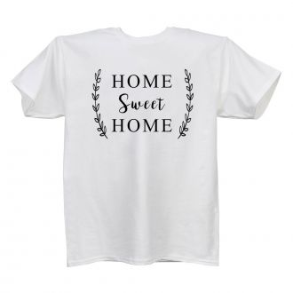 Home Sweet Home (wheat) - Ladies' White T - LARGE