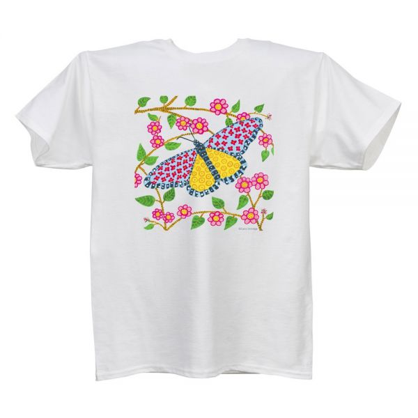Butterfly (CE) White T Ladies'