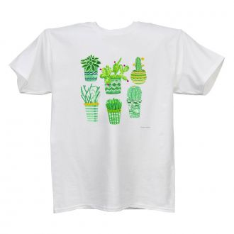 Succulents (6) (CE) White T Ladies
