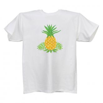 Pineapple - Ladies' White T - LARGE
