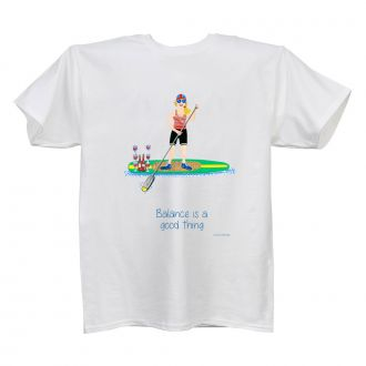 Balance . . .Good Thing - Ladies' White T - X LG