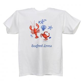 Seafood Lover - Ladies' White T - LARGE