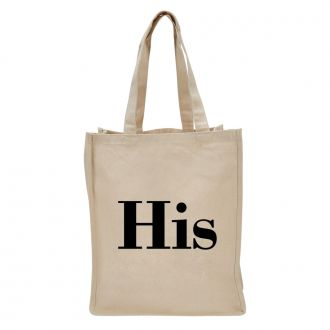 His (in block letters) - Tote Bag