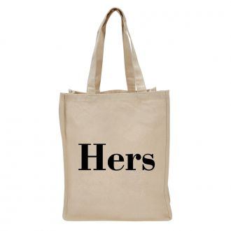 Hers (in block letters) - Tote Bag