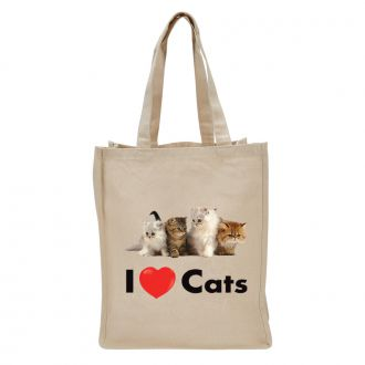I Love (heart) Cats - Tote Bag