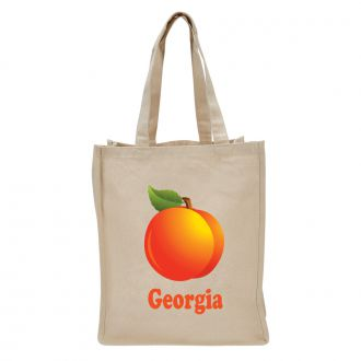 Georgia (with Peach) - Tote Bag