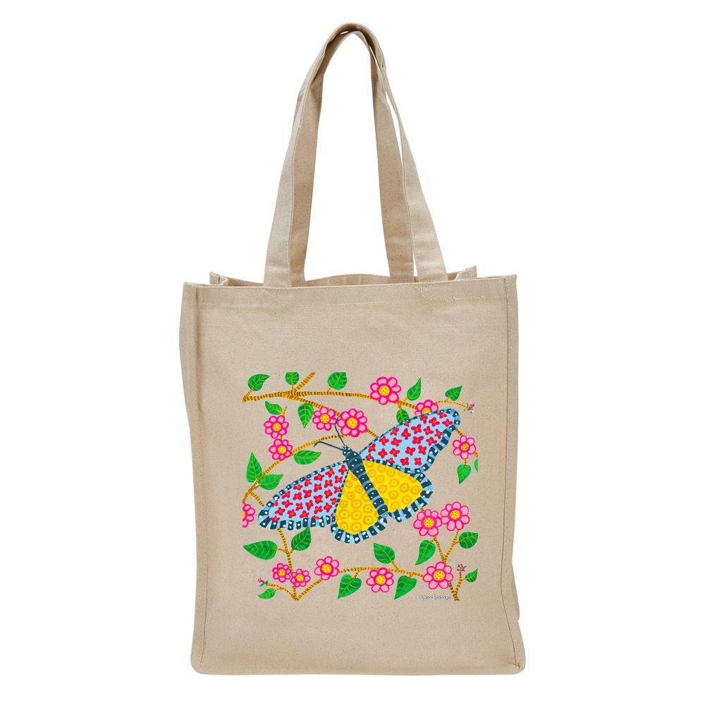 Canvas Tote Bag Free Spirit Tote Custom Tote Printed Bag Shoulder Bag Shopping Bag Butterfly Bag Boho Style Gifts For Her
