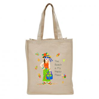 Beach . . .Happy Place - Tote Bag