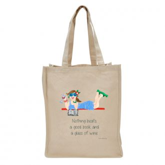 Good Book . . .Wine - Tote Bag
