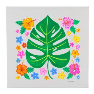 Tropical Leaf with Multi Flowers - 12