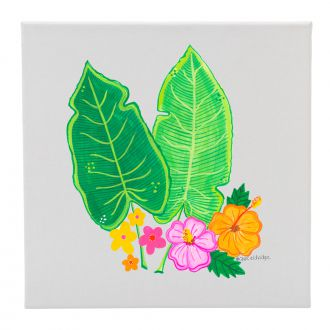 Two Tropical Leaves & Multi Flowers - 12