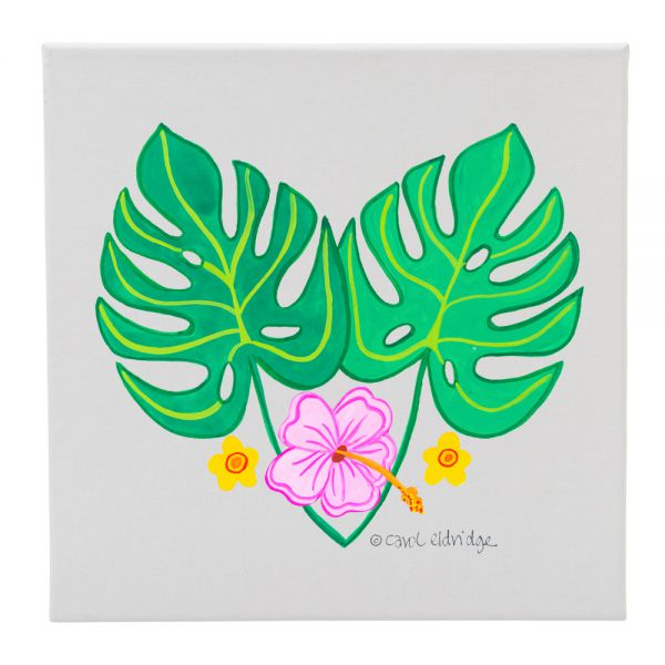 2 Tropical Leaves and 3 Flowers - 12