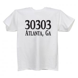 Custom Zip Code (add location) - Ladies' White T - LARGE