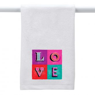 LOVE (in 4 blocks) - Hand Towel