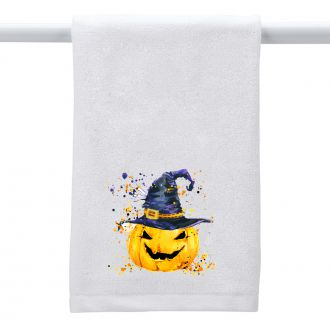 Pumpkin with Hat - Hand Towel