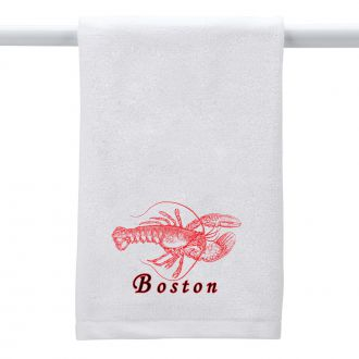 Lobster (add city or town) - Hand Towel