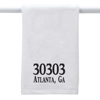 Custom Zip Code (add location) - Hand Towel