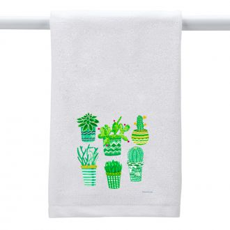 Succulent Plant Collection - Hand Towel