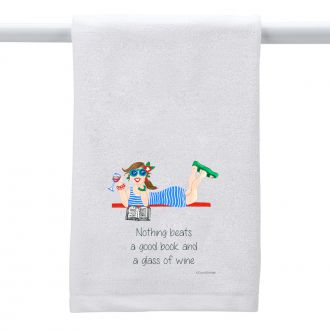 Good Book . . .Wine - Hand Towel