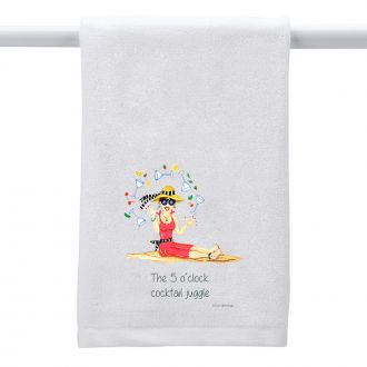 5 O'Clock Cocktail Juggle - Hand Towel