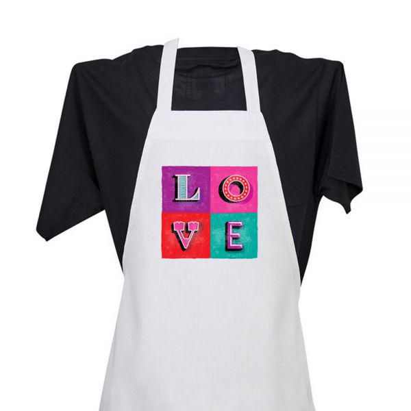 LOVE (in 4 blocks) - Apron