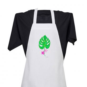 Tropical Leaf with 2 Flowers - Apron