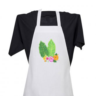 Two Tropical Leaves & Multi Flowers - Apron