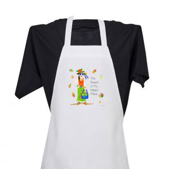 Beach . . .Happy Place - Apron