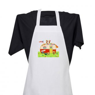 Let's Go (sticker on camper) - Apron