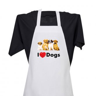 I Love (heart) Dogs - Apron