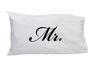 Mr. (in script) - Standard Pillow Case
