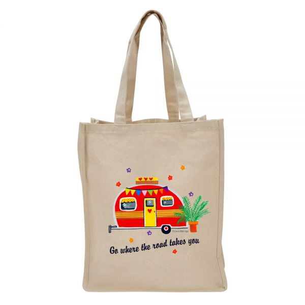 Where the Road . . . (camper) - Tote Bag