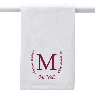 Single Letter (with family name) - Hand Towel