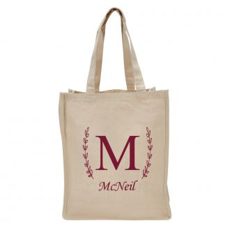 Single Letter (with family name) - Tote Bag