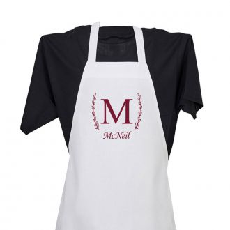 Single Letter (with family name) - Apron