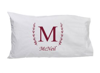Single Letter (with family name) - Standard Pillow Case