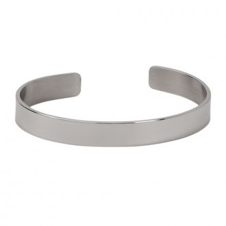 Plain Cuff Bracelet, Stainless Steel .25