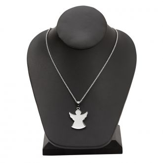 Stainless Steel Angel Necklace 1.125