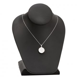 Sterling Silver Disk Necklace, .75