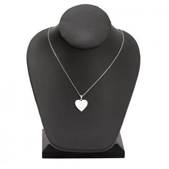 Sterling Silver Heart Necklace, .75