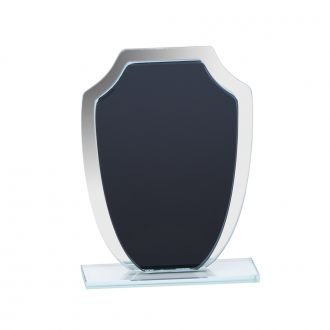 Small Black & Mirror Shield Trophy 6.5