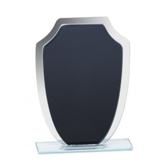 Medium Black & Mirror Shield Trophy 7.25