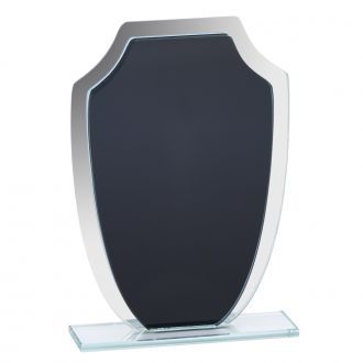 Large Black & Mirror Shield Trophy 8