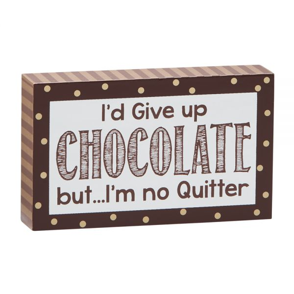 I'd Give Up Chocolate But, WD 3