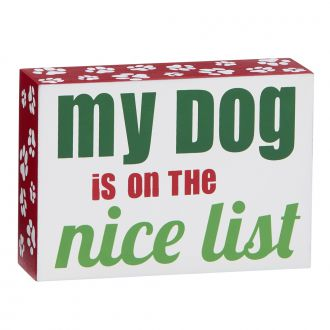 My Dog Is On The Nice List, WD 3.5