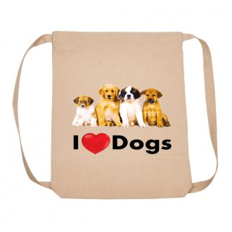 I Love (heart) Dogs - Backpack